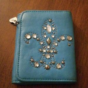 Fleur de lis wallet